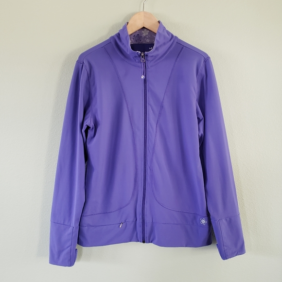 Tuff Athletics purple zip up track running jacket